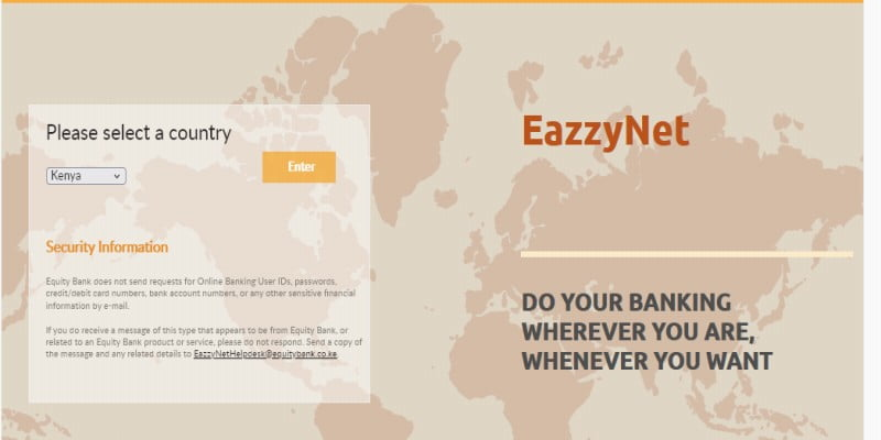 Equity EazzyNet Online Banking Guide, Registration, Login, and Customer Care Contacts
